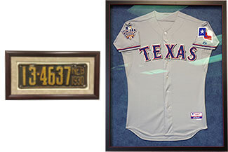 Memorabilia framing Dallas